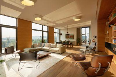 Penthouse - hlavní obývací pokoj